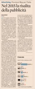 Buone prospettive per la pubblicità (Il Sole 24 Ore 30.10.2014)